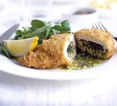 Reduce the calorie count - and guilt factor - of the classic Kiev with this shallow-fried version