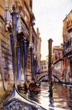 john singer sargent side canal in venice painting 9422 John Singer Sargent Watercolors, Beaux Arts Paris, Art Moderne, Grand Tour, Anime Comics, American Artists, Photos, Pictures, Art History