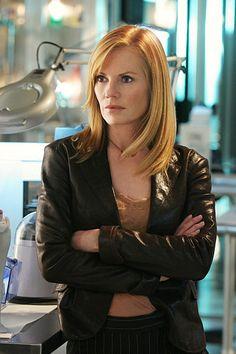 Marg Helgenberger as Catherine. CSI
