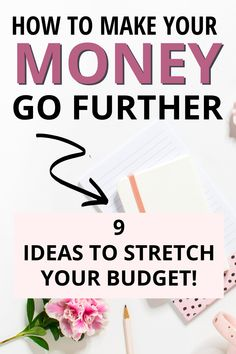 Need to stretch your budget to make your money last? Here are 9 money saving ideas and budgeting tips to get more from your money and boost your personal finance. Best Money Saving Tips, Ways To Save Money, Money Tips, Saving Money, How To Make Money, Live On Less, Managing Your Money, Frugal Living Tips, Budgeting Tips