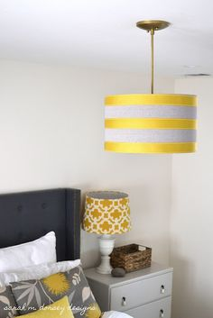 DIY Drum Pendant (perfect lighting for my office!)