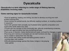 dyscalculia - Google Search