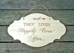 Rustic Wooden And They Lived Happily Ever by TheLovelyGlassJar, $55.00