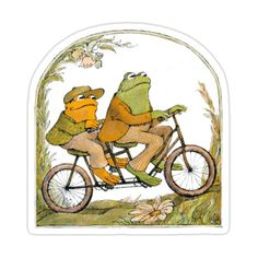Frog And Toad Sticker by rosesandviolets