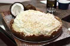 Deep dish coconut cream pie