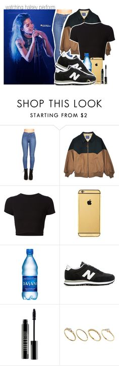 """watching halsey perform."" by luhkehemmings ❤ liked on Polyvore featuring Getting Back To Square One, Goldgenie, New Balance, Lord & Berry, ASOS, concert, bands, NewBalance, halsey and luhkehemmooutfits"