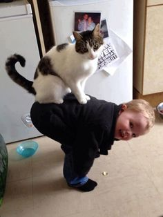 Awwww! The cat, not the baby...