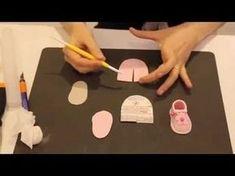 Scarpette Converse, Ciuccio, Bavaglino in Pasta di Zucchero Torta di Battesimo | Francesca Sugar Art - YouTube