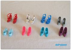 Big Lot of 8 Pairs of Barbie Shoes-strappy, pumps, mules, etc...  SOLD