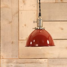Lighting With Red Enamel Dome Shade by lucentlampworks on Etsy, $172.00