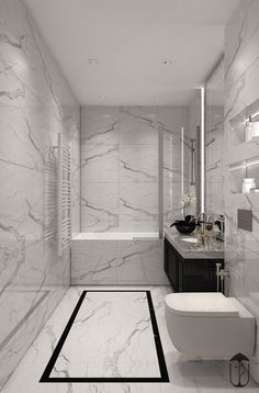 Emily Henderson bathroom trends 2019 modern bathroom with modern m… – Marble Bathroom Dreams Bathroom Design Luxury, Bathroom Layout, Modern Bathroom Design, Bad Inspiration, Bathroom Inspiration, Bathroom Tub Shower, Bathroom Small, Master Bathroom, Bathroom Ideas White