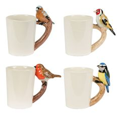Britsh Bird Mugs by Sass & Belle - Gifts for Animal Lovers Can You Feel It, Sass & Belle, Kitchenware, Tableware, Wholesale Home Decor, Mugs Set, Fashion Accessories, British, Ceramics