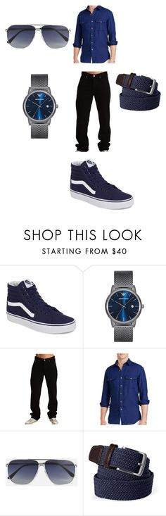 """""""Human Eyeless Jack"""" by abreshajonesmj on Polyvore featuring Vans, Emporio Armani, Polo Ralph Lauren, Tom Ford and Lands' End"""