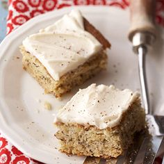 Banana Bars with Rum frosting:   This is a great recipe to make when you have overripe bananas at your house. Being extra-ripe means that they are sweeter and are easier to mash.