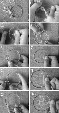 DIY dream catcher tutorial recovery & # Source by manirecline Dreams Catcher, Die Wilde 13, Diy Dream Catcher Tutorial, String Art, Suncatchers, Diy Room Decor, Diy And Crafts, Weaving, Creations