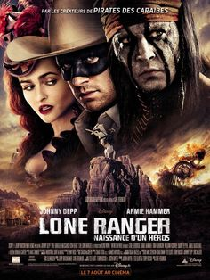 The latest international poster for THE LONE RANGER featuring Johnny Depp, Armie Hammer and Helena Bonham Carter! Armie Hammer, Film V, Film Serie, Hd Movies, Movies To Watch, Movies Online, Streaming Movies, Film Johnny Depp, Love Movie
