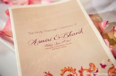 Indian Wedding Ceremony Program Paper Inspiration In Dallas Texas By Greg Blomberg