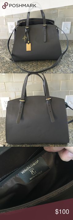 Renata Corsi Italian handbag Excellent condition Renata Corsi handbag.  Lightly used.  Minimal signs of wear.  Small indent on the body of the handbag which can be seen in photo 1 and slight scuffing on the golden tag hanging on the front of the bag. Renata Corsi Bags