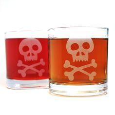 Skull & Bones Lowball Glass 2Pk