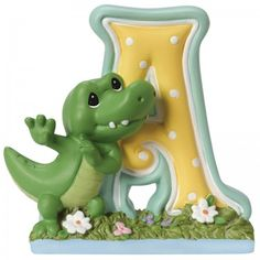 Precious Moments Resin Figurine, A is For Alligator Alphabet Letter Alphabet, Precious Moments Figurines, Block Lettering, Baby Milestones, Decorative Objects, Baby Gifts, Unique Gifts, Birthday Gifts, Baby Shower