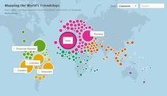 Mapa interactivo en Facebook permite descubrir las interacciones sociales entre países