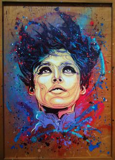beautiful colors and portrait style