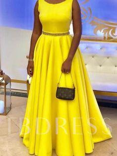 Belt Sleeveless Round Neck Plain Women's Maxi Dress