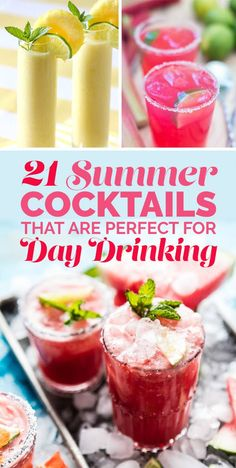 21 Summer Cocktails That Are Perfect For Day Drinking 21 Summer Cocktails That Are Perfect For Day Drinking - Fresh Drinks Refreshing Summer Cocktails, Easy Cocktails, Alcoholic Drinks For Summer, Best Summer Drinks, Best Drinks, Drambuie Cocktails, Rumchata Cocktails, Summer Beverages, Alcoholic Cocktails