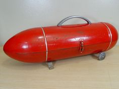 Vintage Torpedo Tool Box...I want this for my makeup!! Or art supplies!!