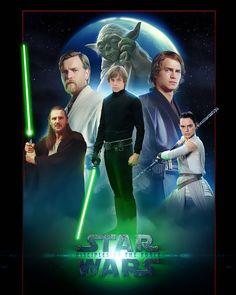 """1,008 Likes, 53 Comments - STARWARSDAILY (Clint Sceeles) (@starwarsdaily) on Instagram: """"⚡️Comment Your Favorite Jedi!⚡️ • #starwars #starwarsdaily #lucasfilm #disney #jedi…"""""""