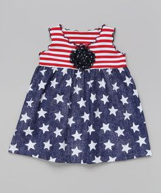 Red & Blue Star Swing Top - Toddler & Girls | something special every day