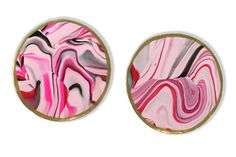 Pink Marbled Clay Coasters