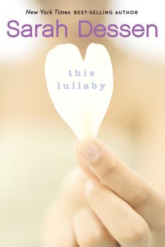 This Lullaby by Sarah Dessen. One of my all time favorite books, probably my #1. I read at least twice a year haha. Love the story line between Remy and Dexter!!!! <3