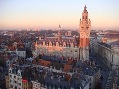 Lille at Sunset, France