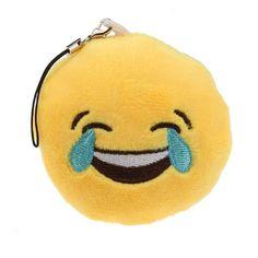 Cute Emoji iEmoji Emoticon Funny Toy Keychain Pocket Key Laugh to Tear