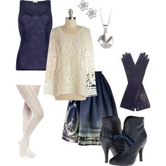 """Navy and Cream"" by mara-nokomis on Polyvore"