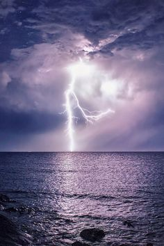 Thunderbolt On Sea by Ivan Puddighinu