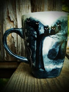 I want this mug - The Dark Trail - Handpainted Mug by *InkyDreamz on deviantART