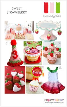 oh my goodness. another stellar theme... Strawberry Shortcake could attend! So sweet...