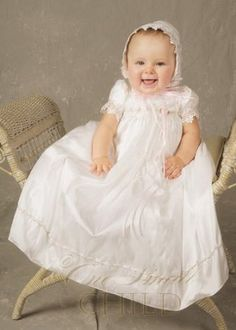 Tess 6 Month Silk Christening Baptism Blessing Gown One Small Child. $112.50