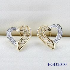 Gold Diamond Earrings See more stunning jewelry at http://RadiantRings.net! #jewelry