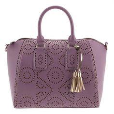 Lilac Vintage Circus Hand Bag ($53) ❤ liked on Polyvore