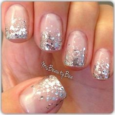 Image about glitter in nails by Nance on We Heart It