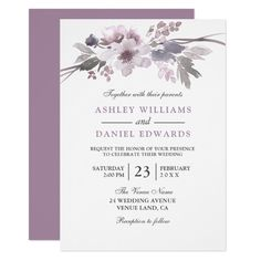 Blush Pink & Gray Winter Floral Wedding Invitation Blush & Gray Winter Floral Wedding Invite Invitation Matching collection in Niche and Nest store. Spring Wedding Invitations, Watercolor Wedding Invitations, Floral Invitation, Elegant Wedding Invitations, Bridal Invitations, Invitation Templates, Shower Invitations, Invitation Ideas, Invitation Cards