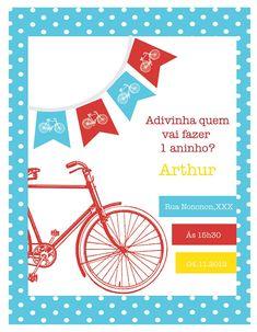 Papel com Design: Festa Bicicleta Vintage