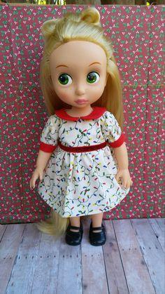 Christmas Dress for Disney Animator Dolls, Christmas Light Dress, Disney Animator Doll Clothes, 16 inch Doll Clothes, Doll Christmas Dress