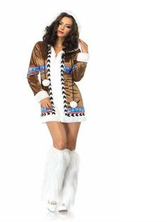 Wholesale Halloween Costumes - Womens Sexy Igloo Cutie Eskimo Costume (I wanted this one last year but decided against). This site looks good and cheap to. Noted for next year. Eskimo Halloween Costume, Sexy Halloween Costumes, Adult Halloween, Christmas Costumes, Halloween Ideas, Buy Costumes, Trendy Halloween, Funny Halloween, Costume Prince