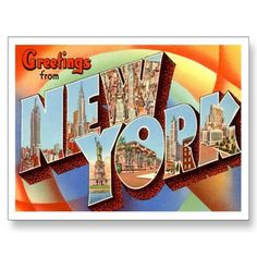 Greetings from  NEW YORK  NY Vintage / Retro Post Card, Greeting Cards and Gifts.