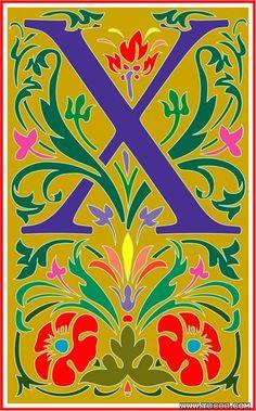 Vincent style letter X