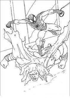 Spiderman Målarbilder för barn. Teckningar online till skriv ut. Nº 21